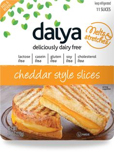 Daiya Cheese is a revolutionary new low pprotein dairy-free vegan cheese that tastes, melts and stretches like dairy based cheese. Not only does it melt perfectly, it stretches, too. Best Vegan Cheese, Dairy Free Cheese, Lactose Free Diet, Sans Lactose, Vegan Foods, Vegan Vegetarian, Vegetarian Cheese, Sin Gluten, Dairy Free Recipes