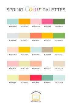 Spring Color Palette for Graphic Web Print Design Wondernote Rgb Palette, Hex Color Palette, Spring Color Palette, Pastel Colour Palette, Spring Colors, Color Palettes, Pastel Colors, Couleur Hexadecimal, Couleur Html