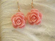 Ohrringe - Ohrringe Rose vergoldet Rosegold - ein Designerstück von Sischima bei DaWanda