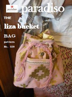 The Liza Bucket Bag Pattern PD-028 by Paradiso Designs - Cheryl Kuczek. Mid-size bag pattern.