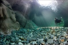 The Verzasca River, Switzerland