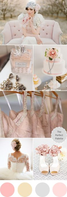 The Perfect Palette: Wedding Colors I Love | Blush Beauty ♥Smart DIY wedding planning at www.ladymarry.com ♥