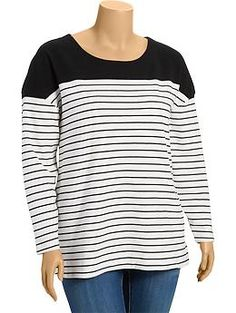 Women's Plus Heavyweight-Jersey Tees | Old Navy