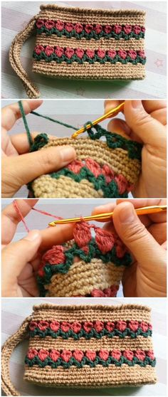 Crochet Rectangle Tulip Purse Knitting TechniquesKnitting For KidsCrochet BlanketCrochet Ideas Crochet Bag Tutorials, Crochet Purse Patterns, Crochet Clutch, Crochet Diy, Crochet Motifs, Crochet Handbags, Crochet Gifts, Crochet Projects, Knitting Patterns