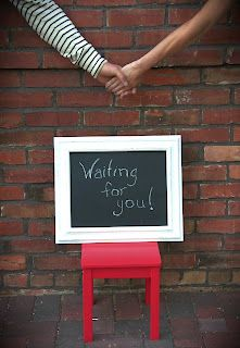 Waiting for you - like the holding hands idea...cute for an adoption announcement