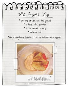Apple Dip recipe by Adventures of a Mamarazzi by mindy Pb2 Recipes, Healthy Dip Recipes, Healthy Dips, Healthy Sweets, Healthy Cooking, Snack Recipes, Healthy Eating, Apple Dip, The Best