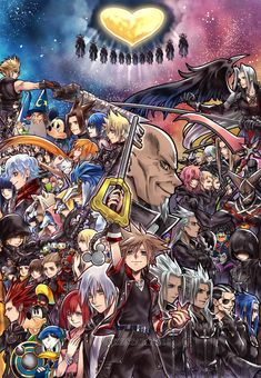 Kingdom Hearts 3 by crezz☆ Sora Kingdom Hearts, Kingdom Hearts Funny, Tatouage Kingdom Hearts, Kingdom Hearts Tattoo, Kingdom Hearts Wallpaper, Hanya Tattoo, Cry Anime, Dope Cartoon Art, Girls Anime
