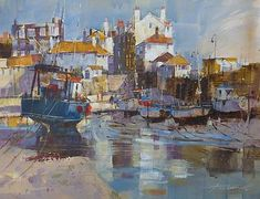 View all Chris FORSEY art and British artwork at Red Rag art gallery. Seascape Paintings, Watercolor Paintings, Watercolours, Landscape Art, Landscape Paintings, Industrial Paintings, Boat Art, Art Folder, Boat Painting