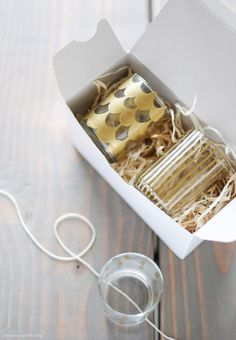 DIY gilded votive holders for favors (via Creature Comforts)