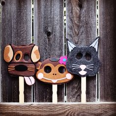 The usual suspects! Our cute handmade custom photo booth animal props