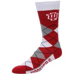 NCAA Super Premium College Fan Socks L//XL, Louisville Cardinals - Argyle