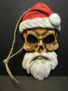 Gothic skeleton skull Santa clause  nightmare before Christmas tree halloween ornament decoration gift