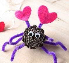 bricolage enfants d'une araignée avec des tentacules