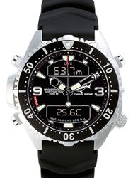 Chris Benz Professional Depth Meter Dive watch with chronograph and alarm #CB-D200-S-KBS #longislandwatch