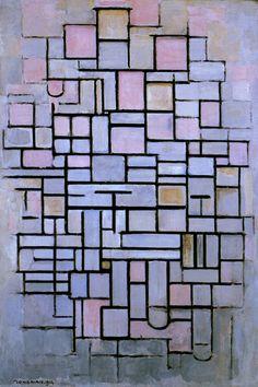 """Composition 6, 1914"" by Piet Mondrian"