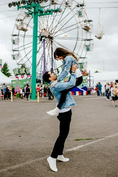How cute is this engagement session at the state fair! Photo by Karina and Maks photography Carnival engagement photos Fair Pictures, Cute Couple Pictures, Cute Photos, Fair Photography, Couple Photography Poses, Carnival Photography, Matching Couple Outfits, Matching Couples, Couple Photoshoot Poses