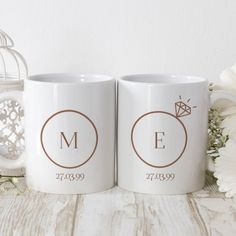 Beautiful premium quality personalised gifts to celebrate a traditional 'china wedding' anniversary. Golden Wedding Anniversary Gifts, Golden Anniversary Gifts, Personalized Anniversary Gifts, Anniversary Gift For Her, Personalised Mugs, Perfect Couple, High Gloss, 50th, Initials