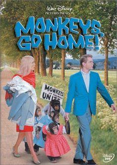 Maurice Chevalier & Dean Jones & Andrew V. McLaglen-Monkeys, Go Home! Every Disney Movie, Walt Disney Movies, Classic Disney Movies, Disney Movie Posters, Disney Movies To Watch, Disney Classics, Film Disney, Disney Art, Dean Jones