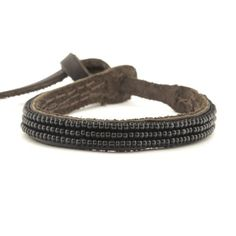 Chan Luu Seed Bead and Leather Single-wrap Bracelet - E.F.I. Collection - Black by Chan Luu -- Awesome products selected by Anna Churchill