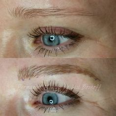 Microblade eyebrow tattoo - by #lislboshoff #powderpuffmakeup Before and directly after - colour will soften when healed. 082 466 2429/ hello@powderpuffm... #microblading #strand #capetown #durbanville #skinandbodyboutique #permanentmakeup #microstroke #natural #hairstroke #eyebrowtattoo