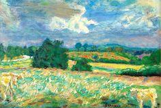 PIERRE BONNARD 1867 - 1947 PAYSAGE DU MORVAN