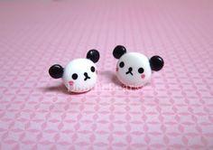 Panda Bear Kawaii Cute Earring Studs