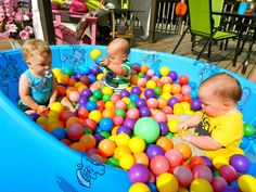 Trendy Baby First Birthday Games Ball Pits Ball Theme Birthday, Bouncy Ball Birthday, First Birthday Games, Toddler Boy Birthday, 1 Year Old Birthday Party, Backyard Birthday Parties, Birthday Themes For Boys, Baby 1st Birthday, First Birthdays