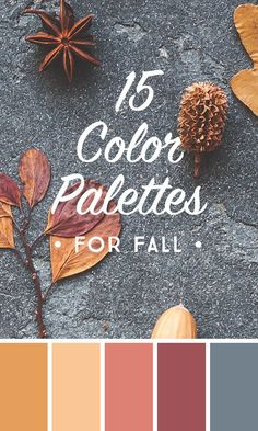 On the Creative Market Blog - 15 Downloadable Color Palettes For Fall