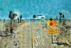 Exploring Great Artists (with kids): David Hockney, Pearblossom Highway, photomontage