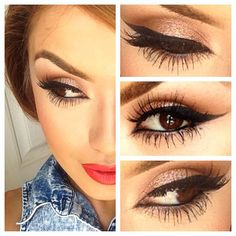 Makeup Lovers Unite. Her makeup is really pretty.