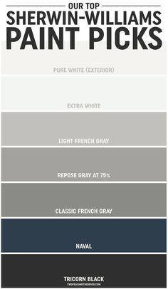 grey exterior house colors When Maria and Josh built a new home, choosing the paint colors was, at first, overwhelming. But along the way they learned a thing or two, and they're sharing their tipsand their top Sherwin-Williams paint picks. Exterior Paint Colors For House, Interior Paint Colors, Paint Colors For Home, Exterior Colors, Outside House Paint Colors, Navy Paint Colors, Exterior House Colors Combinations, Exterior Paint Schemes, Stucco Colors