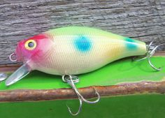 Custom Fishing Lure Painted Crankbait by CandTCustomLures on Etsy, $12.00