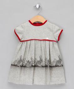 Light Grey #Bunny Short Sleeve Dress  by Elisa Menuts