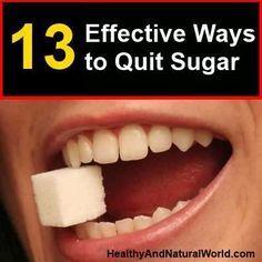 13 Effective Ways to Quit Sugar