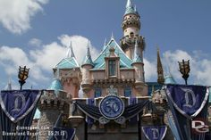 Sleeping Beauty Castle - Decorated for Disneyland 60th. A sunmary of all my #Disneyland60 & #Disney24 posts