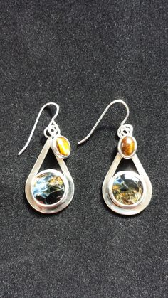 Pietersite Teardrop Sterling Silver Earring by Degenhartdesigns, $70.00
