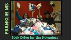 Franklin MS had a Sock Drive for the Homeless