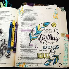 Gorgeous journaling Bible idea, plus be entered to win an ESV Journaling Bible for FREE! Giveaway open now!