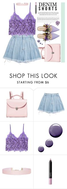 """- Chic Purple -"" by iamnotsuperman-ak ❤ liked on Polyvore featuring The Cambridge Satchel Company, Ksenia Schnaider, MANGO, Underground, Humble Chic, NARS Cosmetics, Pink, purple, DENIMCUTOFFS and summer2017"