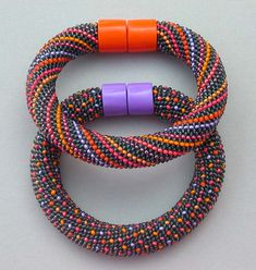 Hildegund Llkerl. Magnetic closures allow two bracelets to become one necklace.