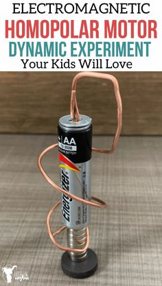 Build your own homopolar motor! A perfect experiment for kids to learn about electromagnetism! It is easy and has lots of room for creative thinking!! Homopolar Motor, Physics Lessons, Train Up A Child, Science Notebooks, Fun Projects, School Projects, Science Experiments Kids, Stick Figures, Learning Tools