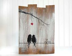 5th Anniversary Gift Wedding Gift for Couple Rustic Wood Sign Reclaimed Wood Art…