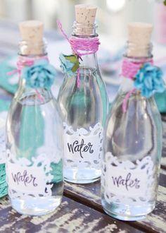 Water in a cute bottle #bridal #shower