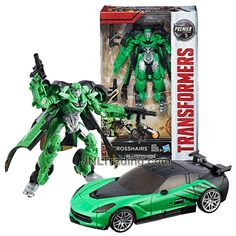 Year 2016 Transformers The Last Knight Movie Premier Edition Series Deluxe Class Inch Tall Figure - Rogue Sharpshooter CROSSHAIRS with Blasters (Vehicle Mode: Corvette)