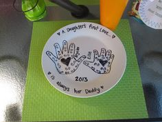 Personalized Plate. With Sharpie markers write and draw whatever you would like. Bake plate at 325* for 30 mintues. All done. Perfect for any occasion!