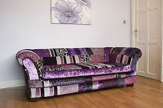 Stunning Patchwork Sofa Bed By James and Rose Upholstery in Home, Furniture & DIY,Furniture,Sofas, Armchairs & Suites | eBay