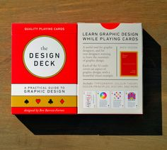 "betype: "" 1 Day Only: Get Off onThe Design Deck: Playing Cards Learn graphic design while playing poker! The Design Deck is a deck of playing cards that doubles as a practical guide to graphic design. Each of the 52 faces contains a useful piece. Type Design, Graphic Design, Rack Design, Typography, Lettering, Direct Marketing, Color Theory, Playing Cards, Deck"