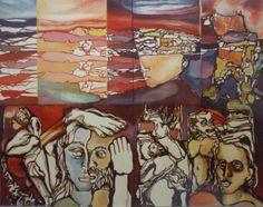 """Il viaggio di Ulisse """"cm.140x200"""" a.1982"""