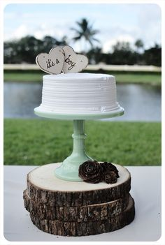 Baby Shower Cake Toppers for Rustic Natural Eco by PrinceWhitaker, $16.99