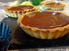 """750g vous propose la recette """"Tartelettes chocolat caramel au beurre salé"""" notée 4/5 par 199 votants."""